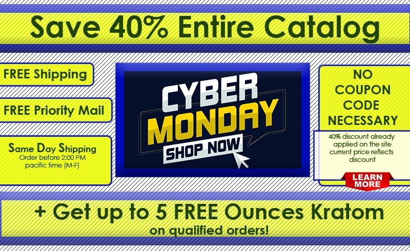 Cyber Monday Kratom Sale