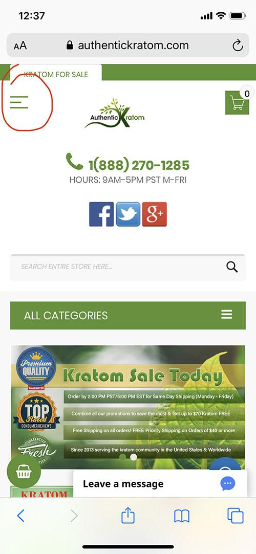 buy kratom on mobile phone